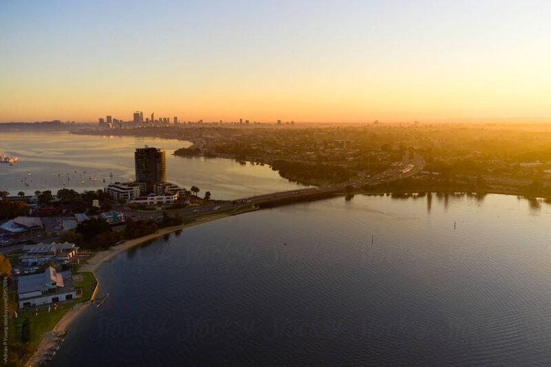 Perth aerial landscape photo